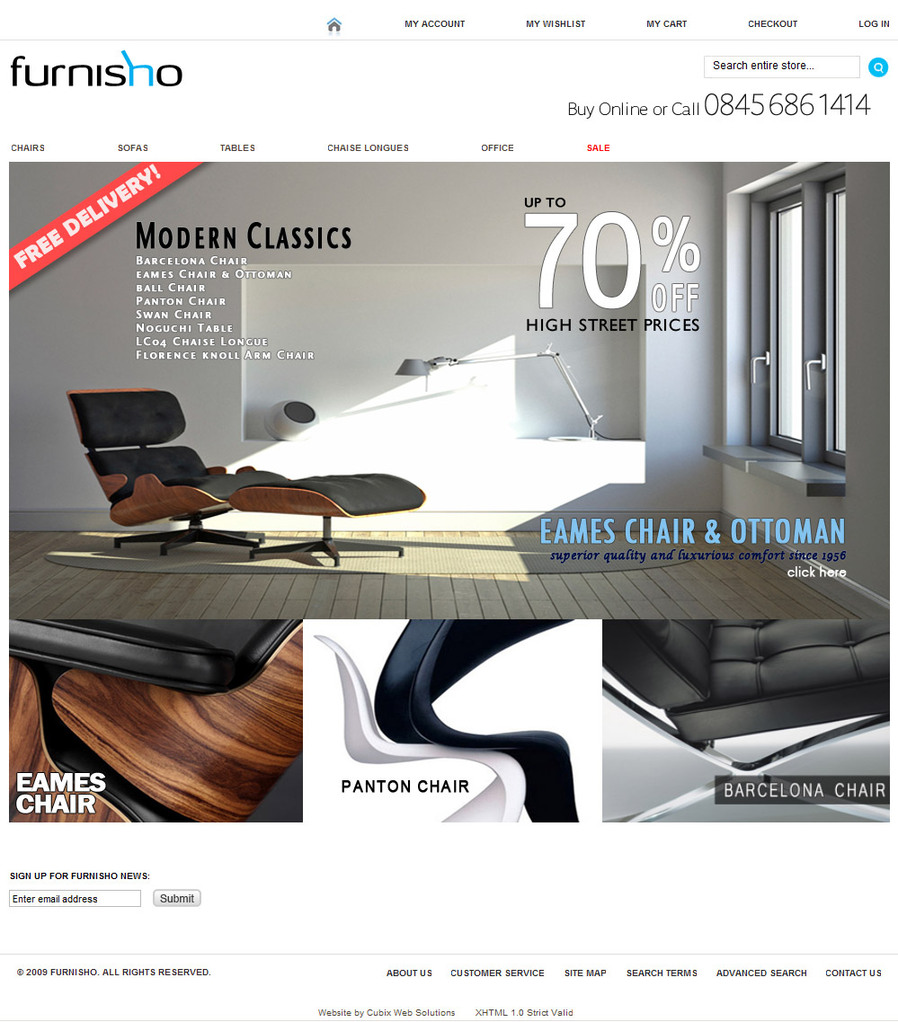Furnisho - Magento ecommerce website - Quality Affordable website design by Cubix Web Solutions