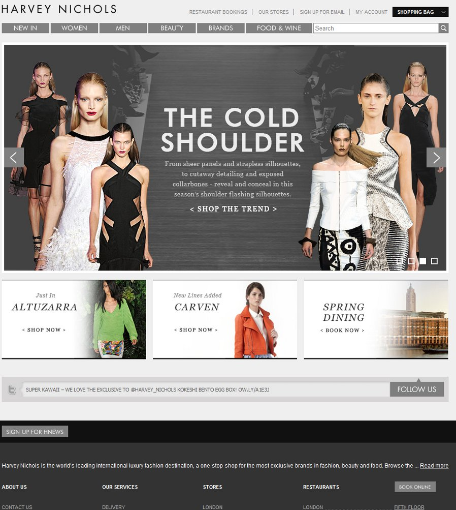 Harvey Nichols - Magento Enterprise Edition - Quality Affordable website design by Cubix Web Solutions